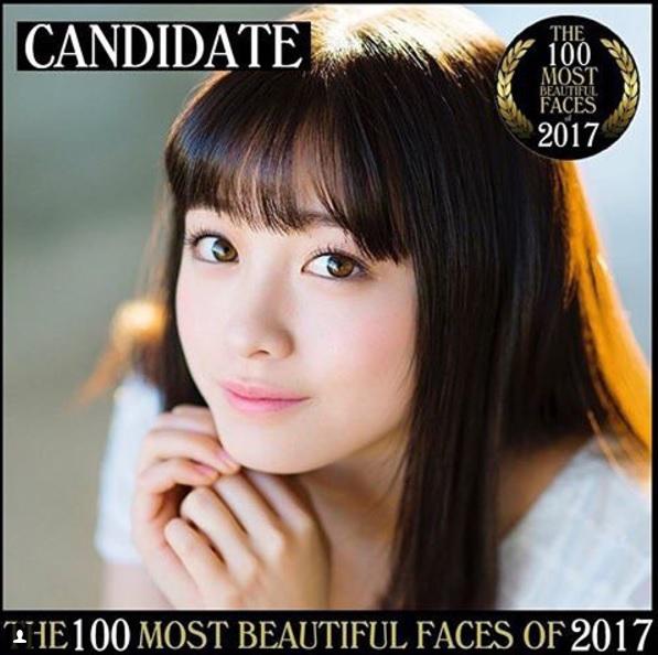 橋本環奈 世界で最も美しい顔100人」2017年度にエントリー