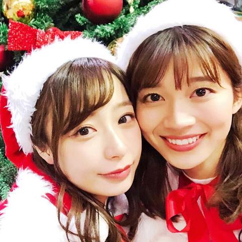 TBS退社の噂もある宇垣美里アナが最後のサービス!?山本里菜アナと『サンジャポ』でサンタコス